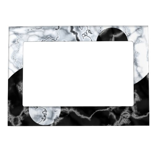 Marble Yin Yang Symbol Picture Frame Magnets