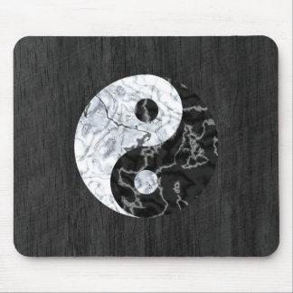 Marble Yin Yang Symbol Mouse Pad