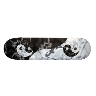 Marble Yin Yang Symbol Skateboard Deck