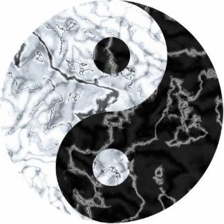 Marble Yin Yang Symbol Statuette