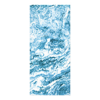 Marbled Abstract Design | Blue and White Rack Card