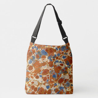 Marbled Abstract Design | Blue Red Creme Yellow Tote Bag