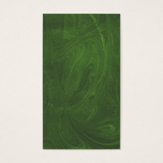 Marbled Abstract Design | Dark Green Business Card