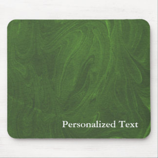 Marbled Abstract Design | Dark Green Mouse Pad