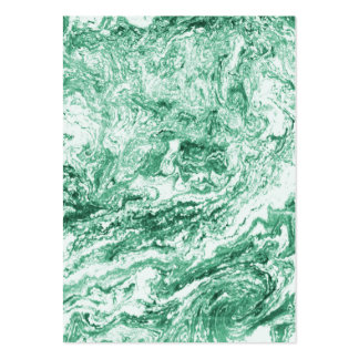 Marbled Abstract Design   Green White Large Business Cards (Pack Of 100)