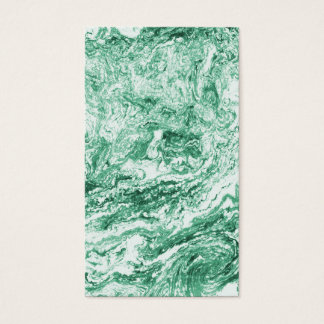 Marbled Abstract Design | Green White Business Card