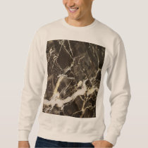 Marbled-Abstract Expressionism by Shirley Taylor Sweatshirt