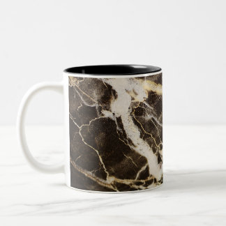 Marbled-Abstract Expressionism by Shirley Taylor Two-Tone Coffee Mug