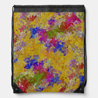 Marbled Abstract Drawstring Bags