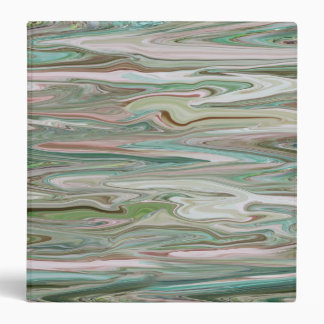 Marbled Binder in Mauve, Pink, Green and Teal
