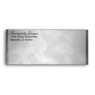 Marbled Black Charcoal Envelope