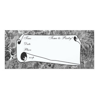 Marbled Black & White Card