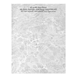 Marbled Black & White Customized Letterhead