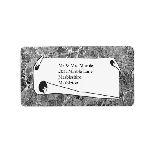 Marbled Black & White Label