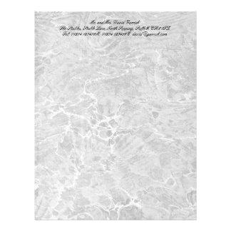 Marbled Black & White Letterhead