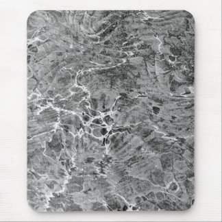 Marbled Black & White Mouse Pad