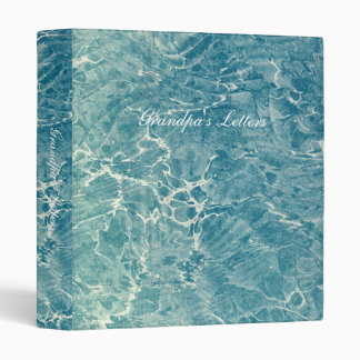 Marbled Blue 3 Ring Binder