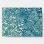 Marbled Blue Envelope