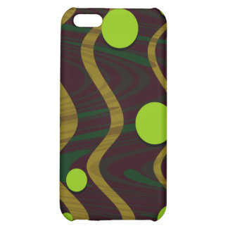 Marbled Dot Wave Gold Green Case For iPhone 5C