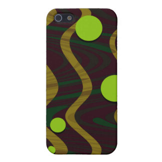 Marbled Dot Wave Gold Green Cover For iPhone 5