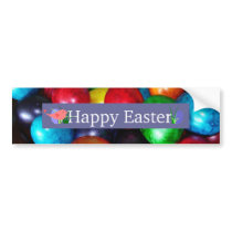 Marbled Easter Eggs Bumper Sticker