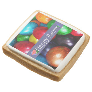 Marbled Easter Eggs Square Shortbread Cookie