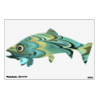 Marbled Flat Fish - Trout Wall Sticker