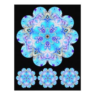 Marbled Flower Kaleidoscope Scrapbook Paper Custom Letterhead