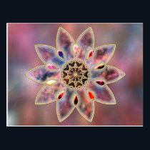 Marbled Galaxies Postcard