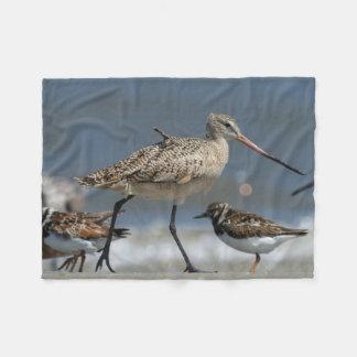 Marbled godwit (Limosa fedoa), Little St Simon's Fleece Blanket