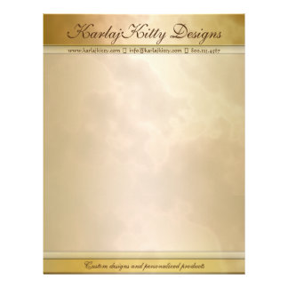Marbled Gold and Rose Personalized Letterhead