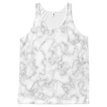 Marbled Gray White Marble Stone Pattern Background All-Over-Print Tank Top