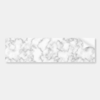 Marbled Gray White Marble Stone Pattern Background Bumper Sticker