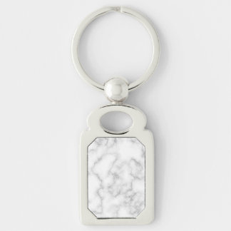 Marbled Gray White Marble Stone Pattern Background Keychain
