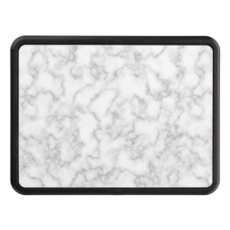 Marbled Gray White Marble Stone Pattern Background Tow Hitch Cover