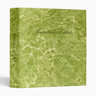 Marbled Green Binder