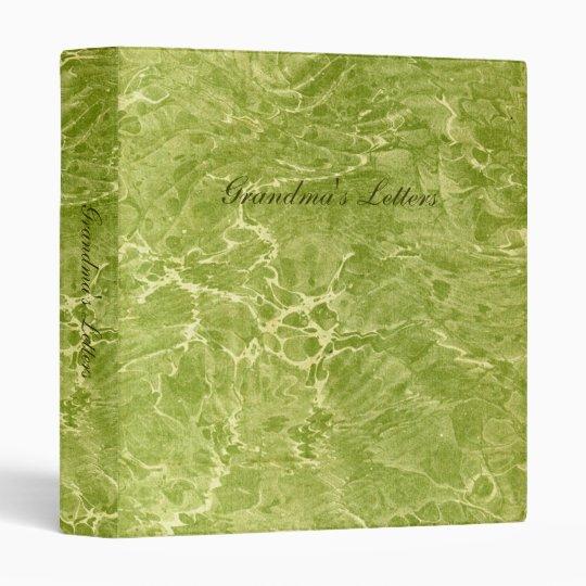 Marbled Green Binder