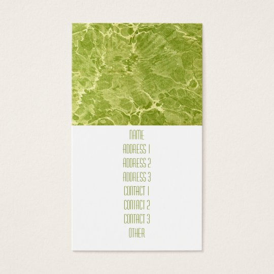 Marbled Green Business Card