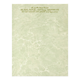 Marbled Green Custom Letterhead