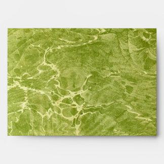 Marbled Green Envelope