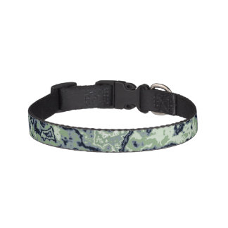 Marbled Green Pet Collar