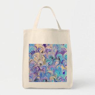 Marbled Grocery Tote Bag