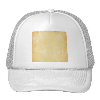 MARBLED GRUNGE RANDOM ABSTRACT SOLID CREAMY YELLOW MESH HAT