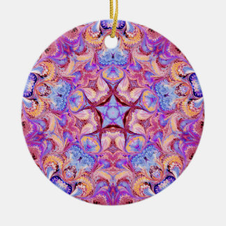 Marbled Kaleidoscope Ornament