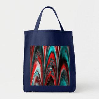 marbled lasershow aqua (L) Grocery Tote Bag