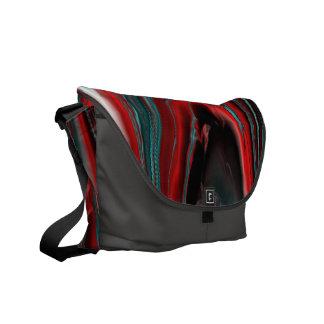 marbled lasershow aqua (L) Messenger Bags