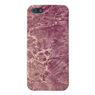 Marbled Maroon Case For iPhone SE/5/5s