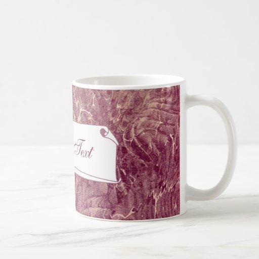 Marbled Maroon Classic White Coffee Mug