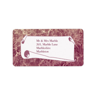 Marbled Maroon Label