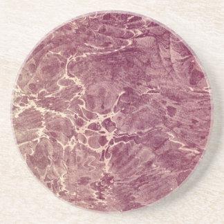 Marbled Maroon Sandstone Coaster